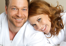Man and woman at colonic clinic